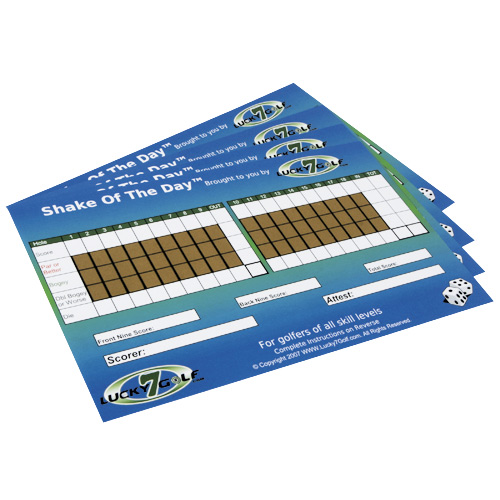 Shake of the Day™  an on-course scratch off golf game that is played with 2 or more players.